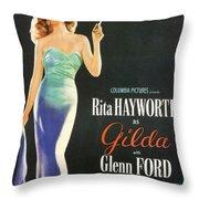 Rita Hayworth As Gilda Throw Pillow