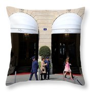 Ritz Hotel Paris Throw Pillow