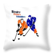 Rivalry Flyers Islanders Shirt Throw Pillow