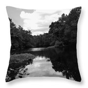 River And Clouds 2 Throw Pillow