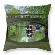 River At Harlow Mill Throw Pillow