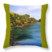 River At Hidden Acres 2. Throw Pillow