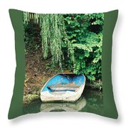 River Avon Boat Throw Pillow