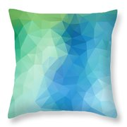 River Bank Geometric Design Throw Pillow