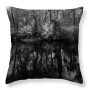River Bank Palmetto Throw Pillow