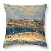 River Banks At Saint-mammes Throw Pillow