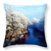 River Bann, Co Armagh, Ireland Throw Pillow