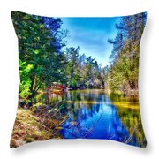 River Bend View Throw Pillow