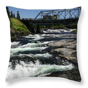 River Bridge Throw Pillow