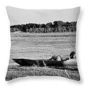 River Canoe Throw Pillow