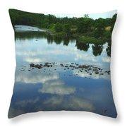 River Cloud Reflection Throw Pillow