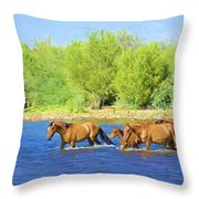 River Crossing Throw Pillow