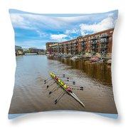 River Cruis'n Throw Pillow