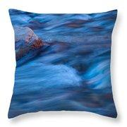 River Flows Throw Pillow