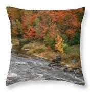 River Foliage Throw Pillow