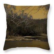 River Glow Throw Pillow