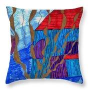 River House Throw Pillow