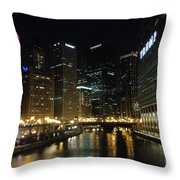 River In Chicago Throw Pillow