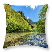 River In Kleidonia Zagora Throw Pillow