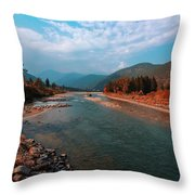 River In The Kingdom Of Happiness Throw Pillow