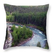 River In Valley G Throw Pillow