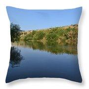 River Jordan Throw Pillow by Atul Daimari
