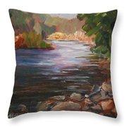 River Light Throw Pillow