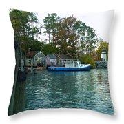 River Marker Light Throw Pillow