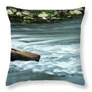 River Motion Throw Pillow