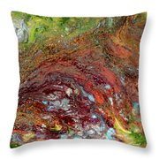 River Of Color Throw Pillow