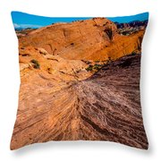 River Of Erosion Throw Pillow