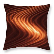 River Of Fire Throw Pillow