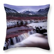 River Of Glass Throw Pillow