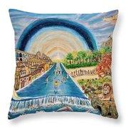 River Of Life Throw Pillow