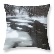 River Of Melting Ice Throw Pillow