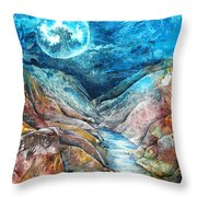 River Of Souls Throw Pillow