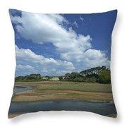 River Otter Estuary,  Budleigh Salterton, Devon, Southwest England, Uk Gb Throw Pillow