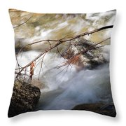 River Rapids Throw Pillow