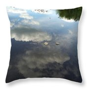 River Reflection Of Clouds Throw Pillow