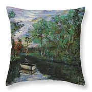 River Reflections Throw Pillow