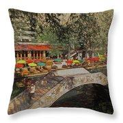 River Restaurants Throw Pillow