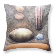 River Rock 1 Throw Pillow