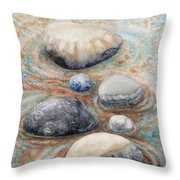River Rock 2 Throw Pillow