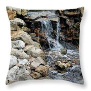 River Rock Of The Unknown Throw Pillow