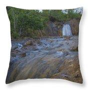 River Rushing Through Throw Pillow