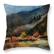 River Semois Throw Pillow