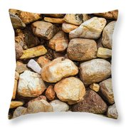 River Stones Throw Pillow
