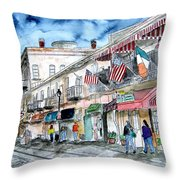 River Street Savannah Georgia Throw Pillow