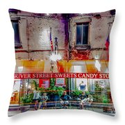 River Street Sweets Candy Store Savannah Georgia   Throw Pillow