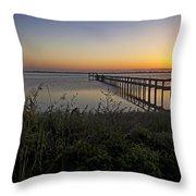 River Sunsrise - Florida Sunrise Scenic Throw Pillow